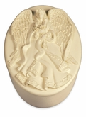 Angel Holding Flowers Keepsake Cremation Urn Box