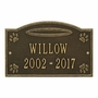 Personalized Angel in Heaven Pet Lawn and Garden Memorial Wall Plaque or Garden Marker - 9 Colors