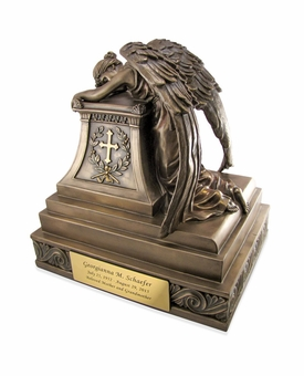 Angel in Mourning Cold Cast Bronze Finish Cremation Urn