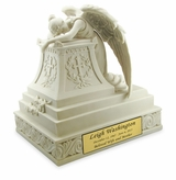 Angel in Mourning Cold Cast White Alabaster Cremation Urn