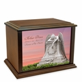 Angel in Mourning Eternal Reflections Wood Cremation Urn - 3 Sizes