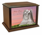 Angel in Mourning Eternal Reflections Wood Cremation Urn - 4 Sizes