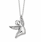Angel of Joy Sterling Silver Memorial Jewelry Necklace