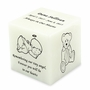 Angel Pearl Small Cube Infant Cremation Urn - Engravable