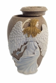 Angel's Embrace - Blue Dress Cremation Urn