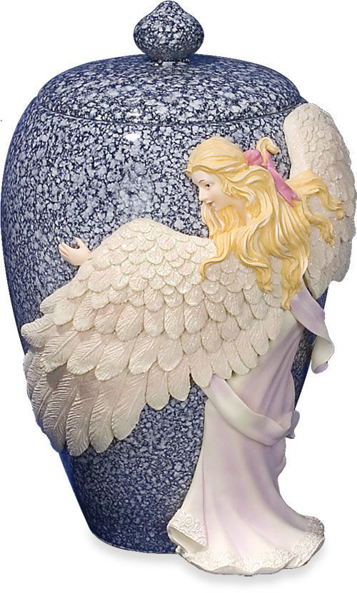 Medium Angel\'s Embrace Color Cremation Urn