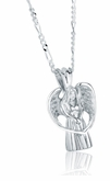 Angel Sterling Silver Cremation Jewelry Pendant Necklace