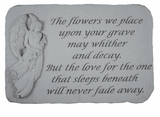 Angel Stone - The Flowers We Place - Memorial Garden Stone