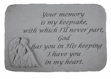 Angel Stone - Your Memory - Memorial Garden Stone