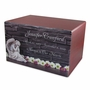 Angel with Flowers Eternal Reflections Cherry Finish Wood Cremation Urn