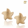 Angelic Star Two Tone Gold Vermeil Memorial Jewelry Stud Earrings