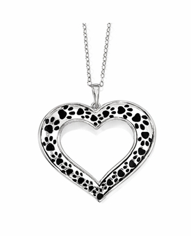 Animal Lover Sterling Silver Memorial Jewelry Necklace