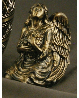Antique Bronze Cremation Keepsake Angel