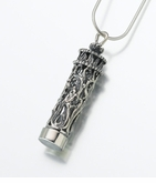 Antique Silver Filigree Cylinder Cremation Jewelry