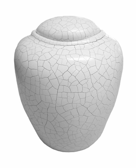 Antique White Sand Biodegradable Cremation Urn