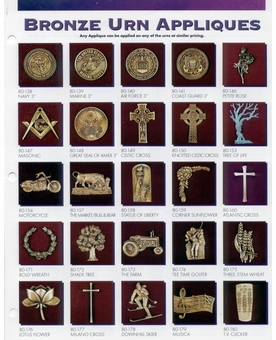 Appliques For Metal Cube Cremation Urns Pg. 3