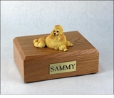 Apricot Show Cut Poodle Dog Figurine Pet Cremation Urn - 807