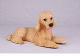 Apricot Standard Poodle Hollow Figurine Pet Cremation Urn - 2768