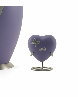 Aria Butterfly Heart Brass Keepsake Cremation Urn