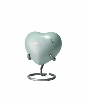 Aria Dolphin Heart Brass Keepsake Cremation Urn