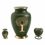 Aria Tree of Life Heart Brass Keepsake Cremation Urn
