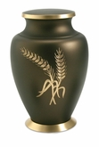 Aria Wheat Brass Cremation Urn