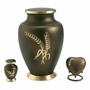 Aria Wheat Brass Keepsake Cremation Urn
