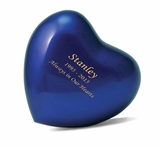 Arielle Sky Blue Heart Keepsake Cremation Urn - Engravable
