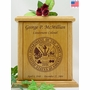 Army Engraved Wood Cremation Urn