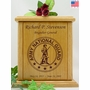 Army National Guard Engraved Wood Cremation Urn