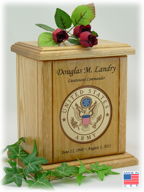 Army Recessed Military Embossed Medallion Engraved Wood ...