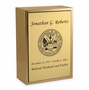 Army Sheet Bronze Inset Snap-Top Niche Cremation Urn with Engraved Plate