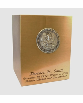 Army Sheet Bronze Snap-Top Cremation Urn