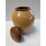Artisan Classic Hand-Turned Oak and Walnut Keepsake Cremation Urn-S