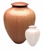 Artisan Classic Hand-Turned American Oak Wood Cremation Urn