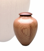 Artisan Classic Hand-Turned American Oak Wood Keepsake Cremation Urn