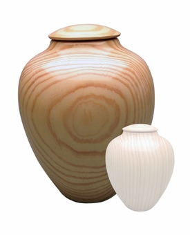 Artisan Classic Hand-Turned Southern Pine Wood Cremation Urn