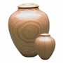 Artisan Classic Hand-Turned Southern Pine Wood Keepsake Cremation Urn