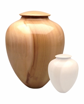 Artisan Classic Hand-Turned Tulip Poplar Wood Cremation Urn