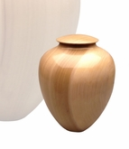 Artisan Classic Hand-Turned Tulip Poplar Wood Keepsake Cremation Urn