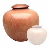 Artisan Craftsman Hand-Turned American Oak Wood Cremation Urn