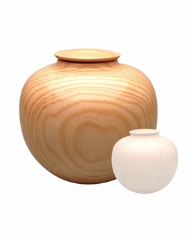 Artisan Craftsman Hand-Turned Southern Pine Wood Cremation Urn