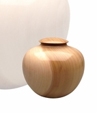 Artisan Craftsman Hand-Turned Tulip Poplar Wood Keepsake Cremation Urn