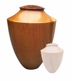 Artisan Heritage Hand-Turned American Oak Wood Cremation Urn
