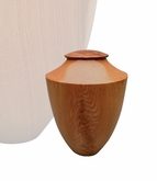 Artisan Heritage Hand-Turned American Oak Wood Keepsake Cremation Urn