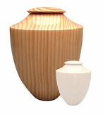 Artisan Heritage Hand-Turned Southern Pine Wood Cremation Urn-S