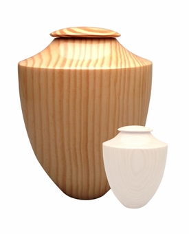 Artisan Heritage Hand-Turned Southern Pine Wood Cremation Urn