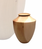 Artisan Heritage Hand-Turned Tulip Poplar Wood Keepsake Cremation Urn