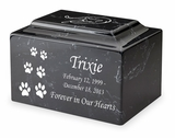 Ascending Cat Paw Prints Pet Classic Cultured Marble Cremation Urn Vault - Engravable - 34 Color Choices