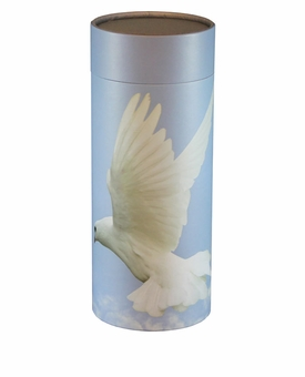 Ascending Dove Eco Friendly Cremation Urn Scattering Tube in 6 sizes